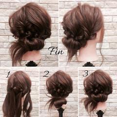 梅雨 ヘアアレンジ ミディアム フェミニン ヘアスタイルや髪型の写真・画像