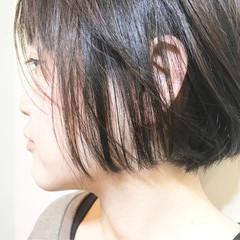 ニュアンス ボブ 色気 ミルクティー ヘアスタイルや髪型の写真・画像