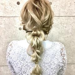 結婚式 フェミニン ロング ヘアアレンジ ヘアスタイルや髪型の写真・画像