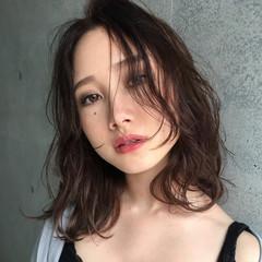 リラックス ミディアム 秋 ボブ ヘアスタイルや髪型の写真・画像