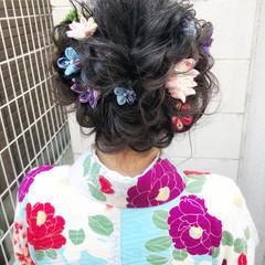 編み込みヘア ヘアアレンジ ロング ふんわり ヘアスタイルや髪型の写真・画像