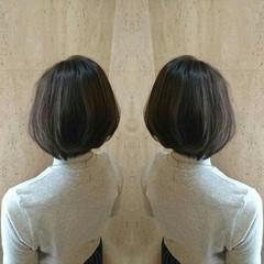 ボブ グレージュ 外国人風 ナチュラル ヘアスタイルや髪型の写真・画像