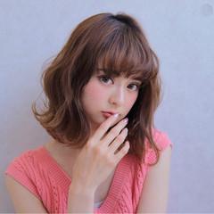 フェミニン エフォートレス 女子力 セミロング ヘアスタイルや髪型の写真・画像