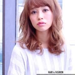 モテ髪 春 フェミニン セミロング ヘアスタイルや髪型の写真・画像