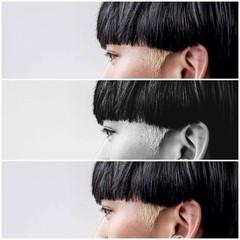 ショートヘア ポイントカラー モード ブリーチ ヘアスタイルや髪型の写真・画像