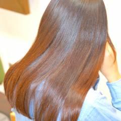ストレート フェミニン 秋 セミロング ヘアスタイルや髪型の写真・画像