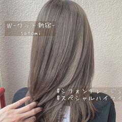 エレガント ニュアンス 外国人風カラー ハイトーン ヘアスタイルや髪型の写真・画像