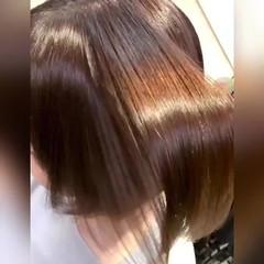 切りっぱなしボブ ナチュラル サイエンスアクア 髪質改善トリートメント ヘアスタイルや髪型の写真・画像