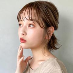 デート デジタルパーマ 簡単ヘアアレンジ アンニュイほつれヘア ヘアスタイルや髪型の写真・画像