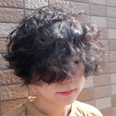 外国人風 ヘアアレンジ パーマ ショート ヘアスタイルや髪型の写真・画像