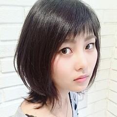 ニュアンス 色気 ナチュラル 黒髪 ヘアスタイルや髪型の写真・画像