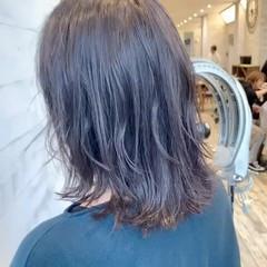 ミディアム ナチュラル 大人かわいい デジタルパーマ ヘアスタイルや髪型の写真・画像