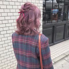 大人かわいい ガーリー ヘアアレンジ デート ヘアスタイルや髪型の写真・画像