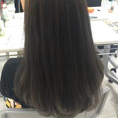 ナチュラル ロング アッシュ 渋谷系 ヘアスタイルや髪型の写真・画像