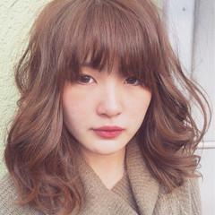 ふんわり  ミディアム 可愛い ヘアスタイルや髪型の写真・画像
