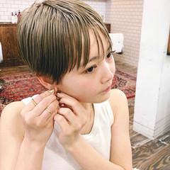 ハイトーンカラー マッシュ マッシュショート ショート ヘアスタイルや髪型の写真・画像