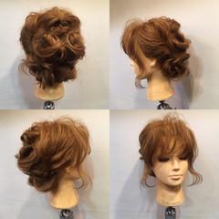 夏 結婚式 お祭り くるりんぱ ヘアスタイルや髪型の写真・画像