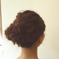 ミディアム フェミニン ガーリー ヘアアレンジ ヘアスタイルや髪型の写真・画像