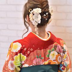 ガーリー ヘアアレンジ 結婚式 ロング ヘアスタイルや髪型の写真・画像