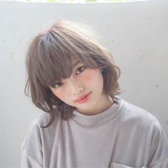 透明感 ハイライト ガーリー アッシュ ヘアスタイルや髪型の写真・画像
