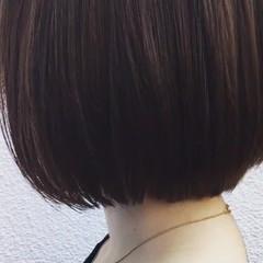 外国人風 切りっぱなし ボブ ハイライト ヘアスタイルや髪型の写真・画像