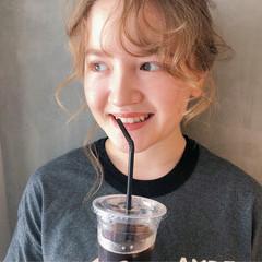 ヘアアレンジ 秋 ナチュラル 夏 ヘアスタイルや髪型の写真・画像