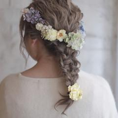 簡単ヘアアレンジ ショート 結婚式 パーティ ヘアスタイルや髪型の写真・画像