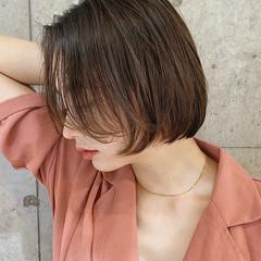 インナーカラー ショートヘア ミニボブ ショートボブ ヘアスタイルや髪型の写真・画像