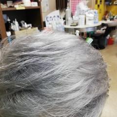 モード ショート シルバー シルバーグレージュ ヘアスタイルや髪型の写真・画像