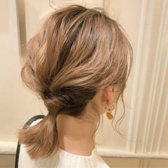 ボブアレンジ セルフヘアアレンジ ミディアム ナチュラル ヘアスタイルや髪型の写真・画像
