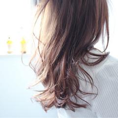 ボブ ラベンダー グレージュ ロング ヘアスタイルや髪型の写真・画像
