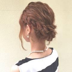ヘアアレンジ ナチュラル ショート 結婚式 ヘアスタイルや髪型の写真・画像