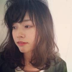 ベース型 ストリート ミディアム 外国人風 ヘアスタイルや髪型の写真・画像