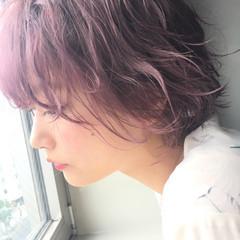 フェミニン ラベンダーピンク アンニュイ 外国人風カラー ヘアスタイルや髪型の写真・画像