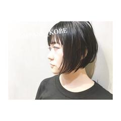 ショートボブ 色気 前髪あり 涼しげ ヘアスタイルや髪型の写真・画像