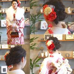 ヘアアレンジ 成人式 セミロング 謝恩会 ヘアスタイルや髪型の写真・画像