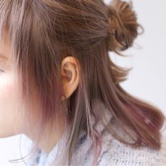 ガーリー 外国人風 ヘアアレンジ ハーフアップ ヘアスタイルや髪型の写真・画像