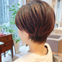 ショート ナチュラル ショートヘア 小顔 ヘアスタイルや髪型の写真・画像
