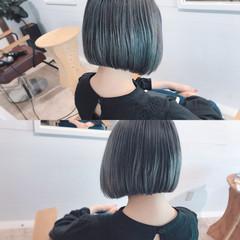 アウトドア ボブ アッシュ デート ヘアスタイルや髪型の写真・画像