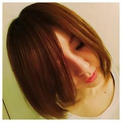 ワンレングス ナチュラル 前髪あり ストレート ヘアスタイルや髪型の写真・画像