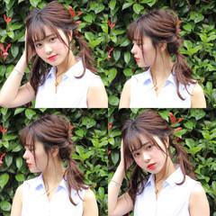 梅雨 簡単ヘアアレンジ 雨の日 アウトドア ヘアスタイルや髪型の写真・画像