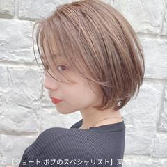 ナチュラル ミニボブ 丸みショート コンパクトショート ヘアスタイルや髪型の写真・画像