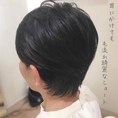 エレガント ショート ベリーショート 大人ショート ヘアスタイルや髪型の写真・画像