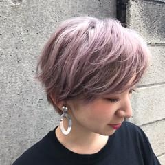ベージュ ガーリー ミルクティー ピンク ヘアスタイルや髪型の写真・画像