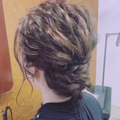 外国人風 ハイライト アッシュ ヘアアレンジ ヘアスタイルや髪型の写真・画像