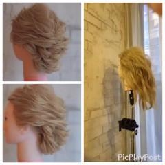 フェミニン パーティ ナチュラル 簡単ヘアアレンジ ヘアスタイルや髪型の写真・画像