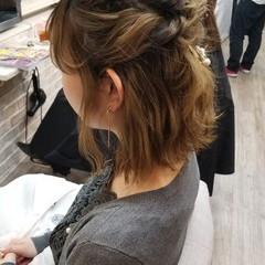 外ハネ ガーリー ヘアアレンジ 結婚式 ヘアスタイルや髪型の写真・画像