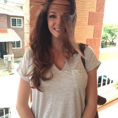 ロング 外国人風 ハイライト ブラウン ヘアスタイルや髪型の写真・画像