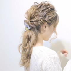 モテ髪 愛され ヘアアレンジ ゆるふわ ヘアスタイルや髪型の写真・画像