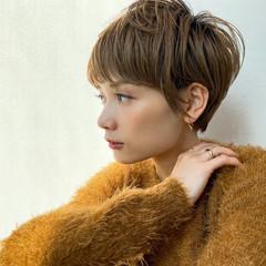 ショートヘア ショートボブ 切りっぱなしボブ ショート ヘアスタイルや髪型の写真・画像